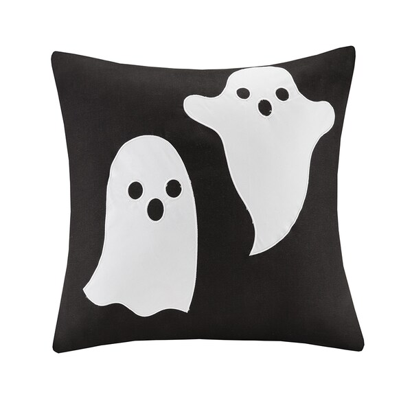 Shop Madison Park Spooky Ghost 20 Inch Square Throw Pillow