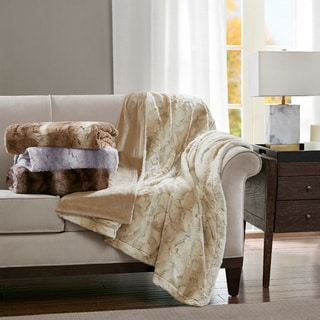 Madison Park Marselle Oversized Faux Fur Throw Part 65
