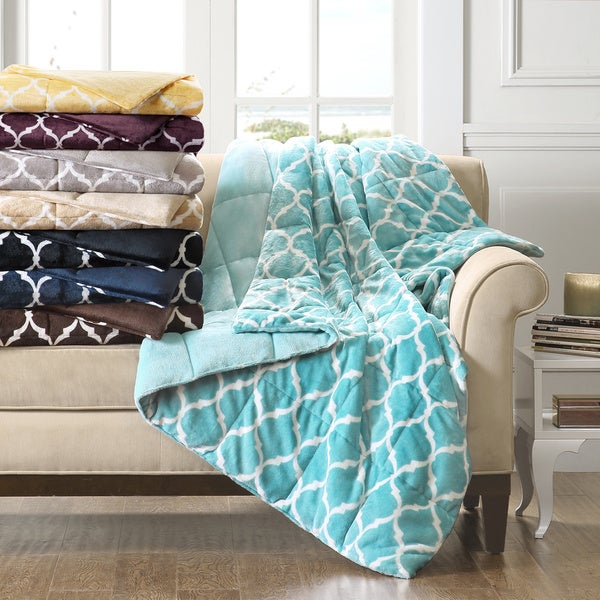 Madison Park Ogee Oversized Down Alternative Throw