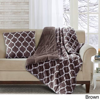 Madison Park Ogee Oversized Down Alternative Throw (5 options available)