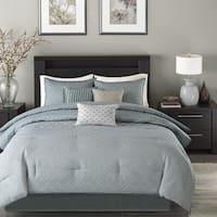 Madison Park Ventura Blue 7-Piece Comforter Set