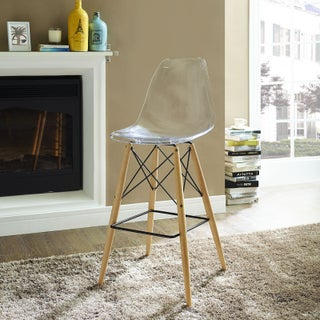 Pyramid 29.5-inch Bar Stool (Option: Clear - Off-White Finish)