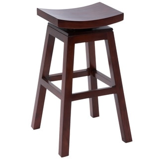 Casa Cortes Solid Wood 30-inch Swivel Bar stool