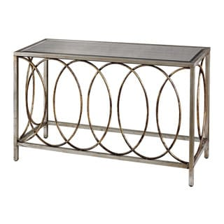 Sterling Rings Mirrored Top Console Table
