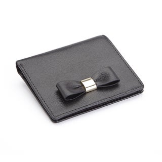 "Royce Leather RFID Blocking ""Sarah"" Mini Bow Wallet in Italian Saffiano Leather"