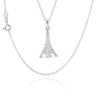 Sterling Silver Eiffel Tower 18-inch Necklace