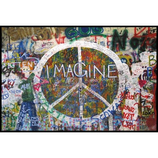 Peace Wall (24-inch x 36-inch) On Wood Mount