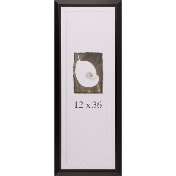 shop narrow black picture frame 12 inches x 36 inches free shipping today overstock 10620692. Black Bedroom Furniture Sets. Home Design Ideas
