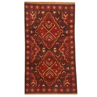 Herat Oriental Afghan Hand-knotted Tribal Balouchi Wool Rug (2'9 x 4'10) - 2'9 x 4'10