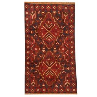 Handmade Herat Oriental Afghan Tribal Balouchi Wool Rug (Afghanistan) - 2'9 x 4'10