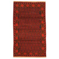 Herat Oriental Afghan Hand-knotted Tribal Balouchi Wool Rug (2'10 x 4'9) - 2'10 x 4'9
