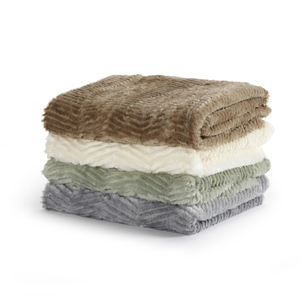 Home Fashion Designs Bahara Collection Ultra Velvet Plush Luxury Sculpted Throw Blanket
