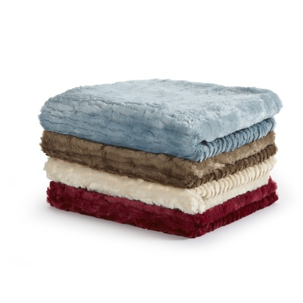 Home Fashion Designs Veranda Collection Ultra Velvet Plush Luxury Sculpted Throw Blanket Free