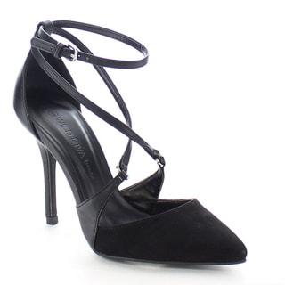 Wild Diva LOVISA-41 Women's Sexy Pointed Toe Criss Cross Stiletto Dancing Heels