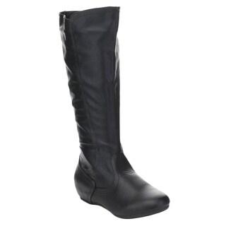 Spirit Moda Doreen-1 Women's Comfort Knee High Round Toe Riding boots