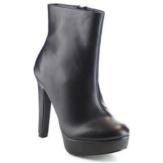 EYE CANDIE KIT-63 Women's Platform Side Zipper Stiletto Ankle Booties