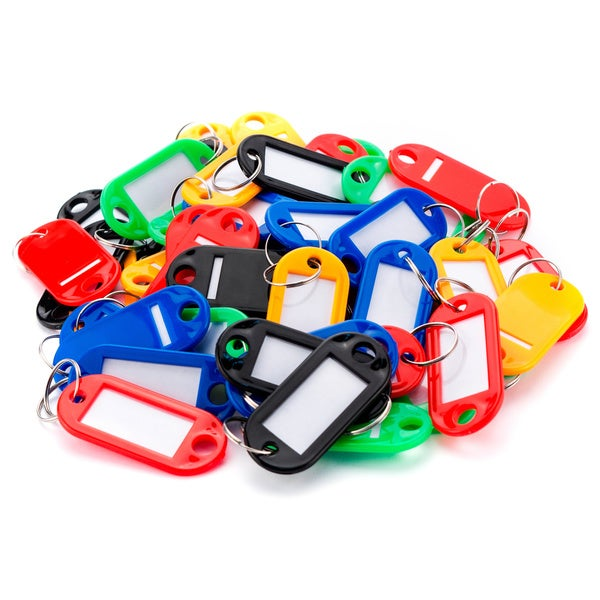 50 Assorted Key Tags