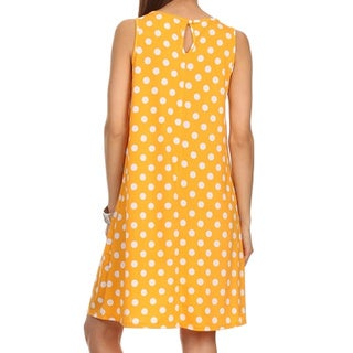 MOA Collection Women's Plus Size Polka Dot Shift Dress