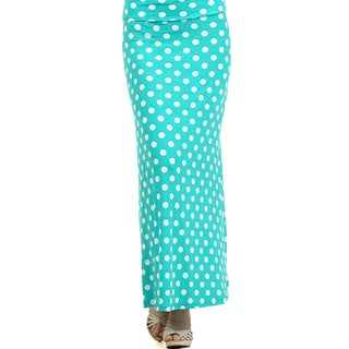 MOA Collection Women's Plus Size Polka Dot Print Skirt
