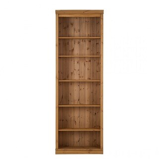 Anita Solid Pine Bookcase with Optional Glass and Wood Doors