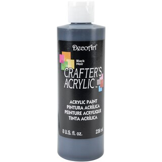 Crafter's Acrylic AllPurpose Paint 8ozBlack