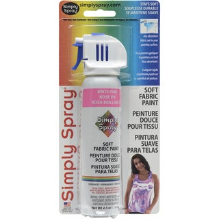Simply Spray Soft Fabric Paint 2.5ozBrite Pink
