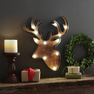 Apothecary & Company 13.5 inch LED Marquee Reindeer Sign
