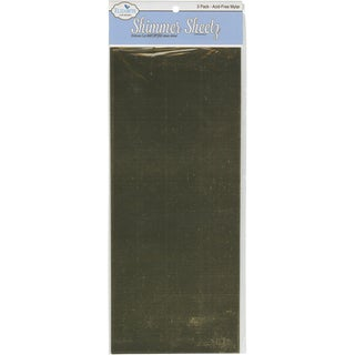 Metallic Mylar Shimmer Sheetz 5inX12in 3/PkgGold