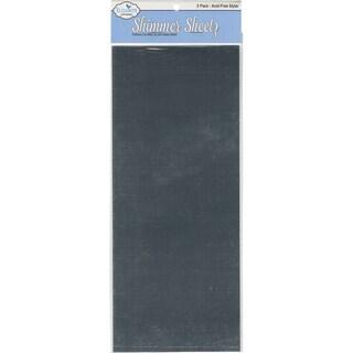 Metallic Mylar Shimmer Sheetz 5inX12in 3/PkgSilver
