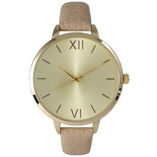 Olivia Pratt Women's Simple Skinny Leather Watch