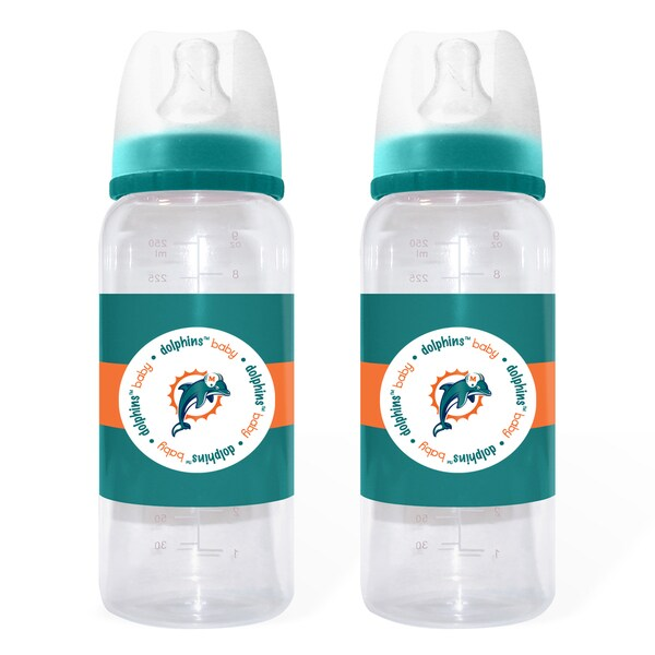 Miami Dolphins 2-piece Baby Bottle Set