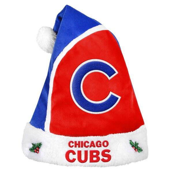 Chicago Cubs 2015 MLB Polyester Santa Hat