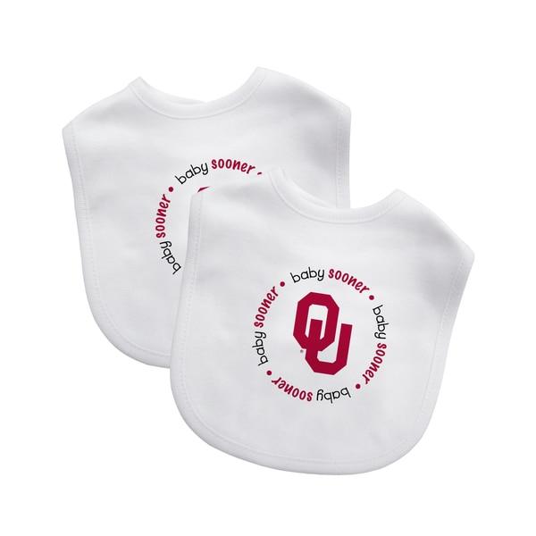 Baby Fanatic NCAA Oklahoma Sooners 2-pack Baby Bib Set