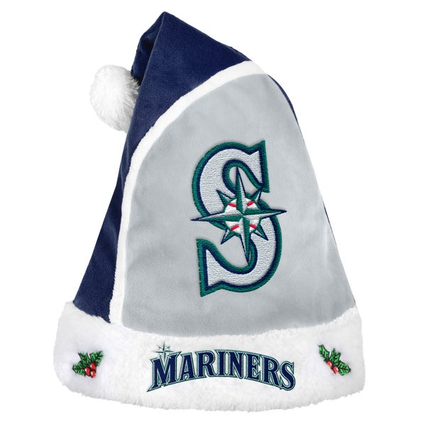 Seattle Mariners 2015 MLB Polyester Santa Hat