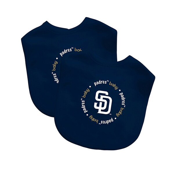 Baby Fanatic MLB San Diego Padres 2-pack Baby Bib Set