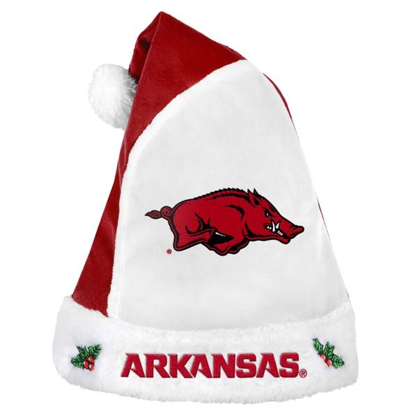 Arkansas Razorbacks 2015 NCAA Polyester Santa Hat