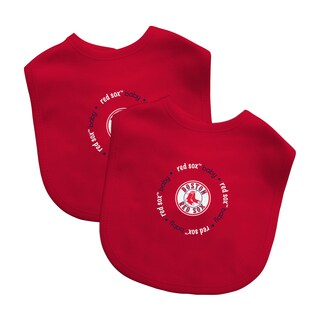Baby Fanatic MLB Boston Red Sox 2-pack Baby Bib Set
