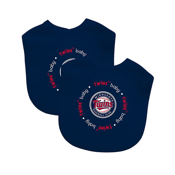 Baby Fanatic MLB Minnesota Twins 2-pack Baby Bib Set