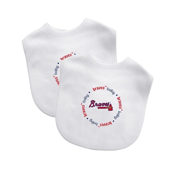 Baby Fanatic MLB Atlanta Braves 2-pack Baby Bib Set