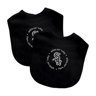 Baby Fanatic MLB Chicago White Sox 2-pack Baby Bib Set