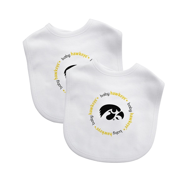 Baby Fanatic NCAA Iowa Hawkeyes 2-pack Baby Bib Set