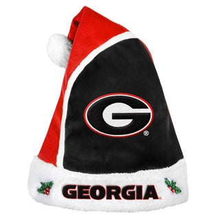 Georgia Bulldogs 2015 NCAA Polyester Santa Hat