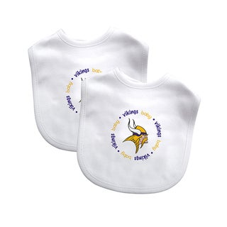 Baby Fanatic NFL Minnesota Vikings 2-pack Baby Bib Set