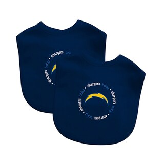 Baby Fanatic NFL San Diego Chargers 2-pack Baby Bib Set