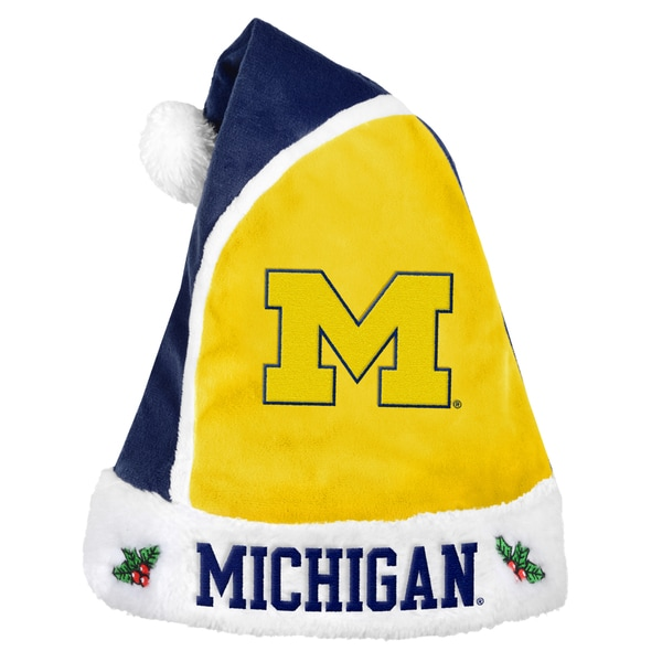 Michigan Wolverines 2015 NCAA Polyester Santa Hat