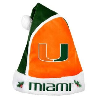 Miami Hurricanes 2015 NCAA Polyester Santa Hat