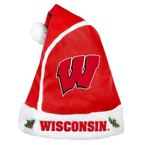 Wisconsin Badgers 2015 NCAA Polyester Santa Hat