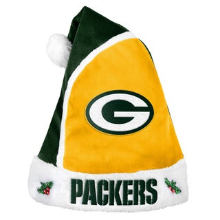 Forever Collectibles Green Bay Packers 2015 NFL Polyester Santa Hat