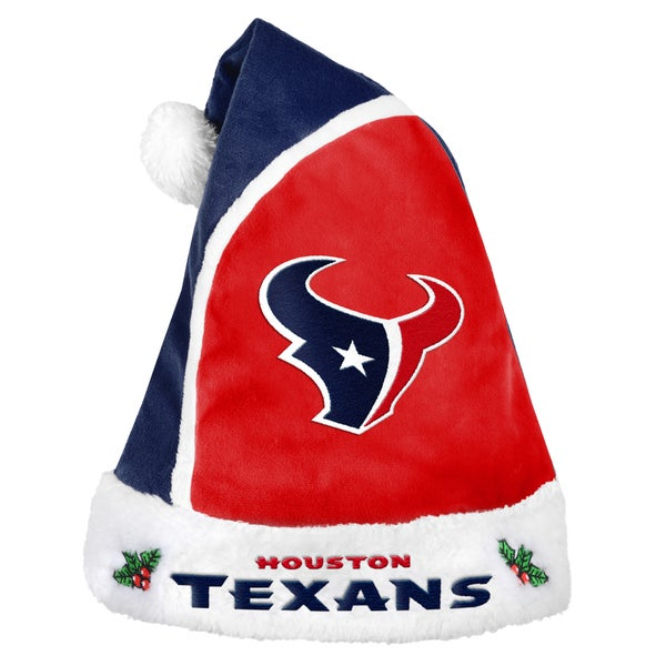 Forever Collectibles Houston Texans 2015 NFL Polyester Santa Hat