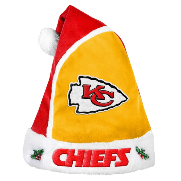 Forever Collectibles Kansas City Chiefs 2015 NFL Polyester Santa Hat